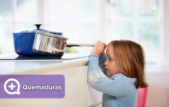 Quemaduras leves en niños y adultos por accidentes domésticos en la cocina