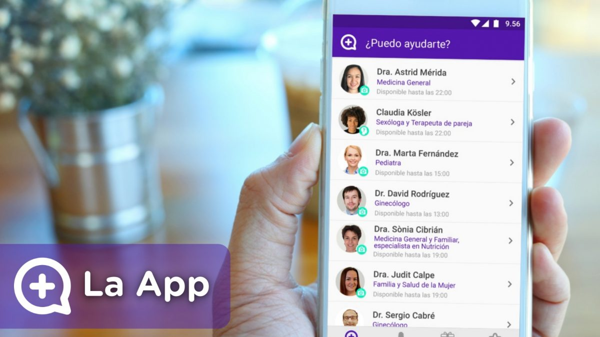 mediquo, tu amigo médico. chat médico. startup de salud, medicina, health.