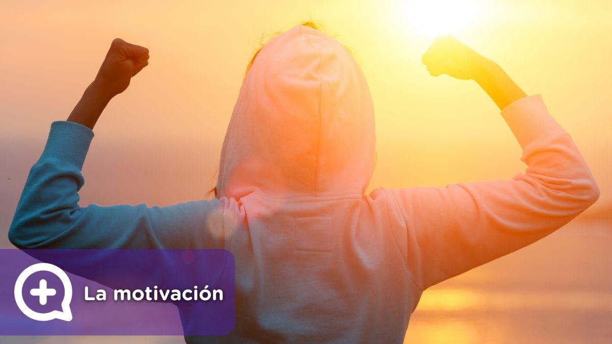Persona motivada a conseguir objetivos. Superación personal. Alcanzar metas.