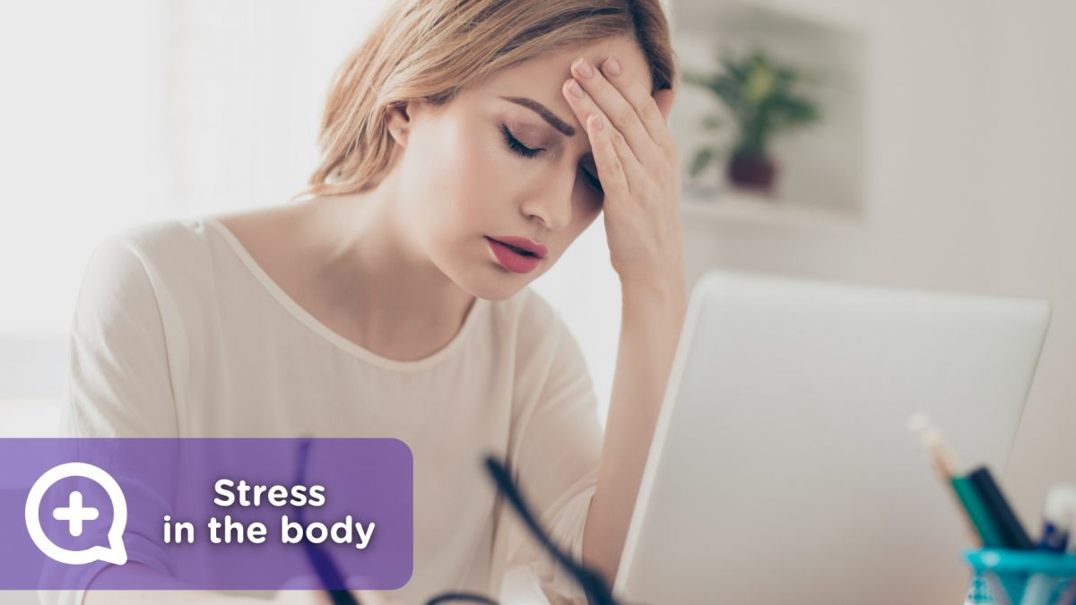 Woman going through a situation of stress, anxiety and chronic disease.