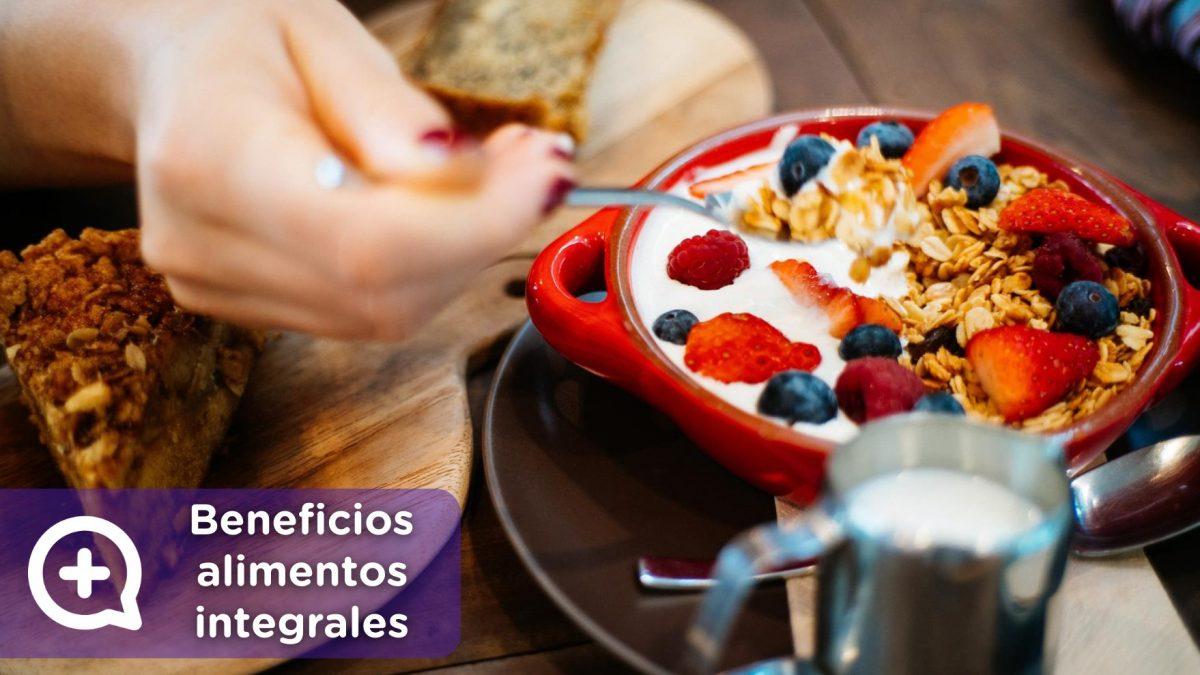Alimentos integrales, beneficios para la salud. Diabetes, colesterol y celiaquía. MediQuo, tu amigo médico. Chat médico.