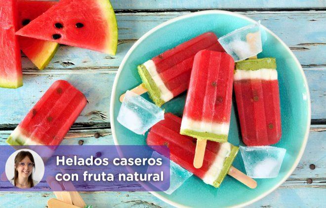Helados caseros de fruta natural. Receta. Alba Parcerisas. Nutricionista. Niños. Salud. Mediquo.