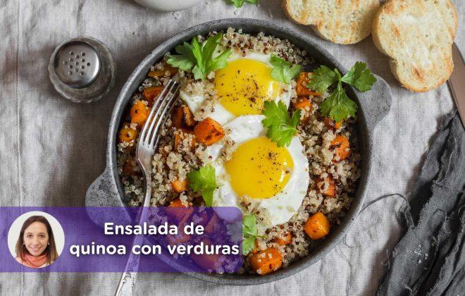 Receta ensalada de quinoa con verduras. Mediquo, nutrición. Recetas. Cristina Romagosa.