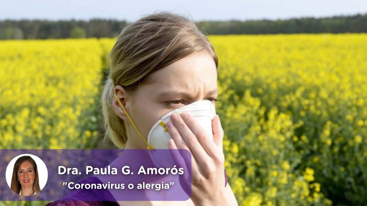 Coronavirus, covid19, alergia, alergia primaveral, mediquo, Paula García Amorós, salud, telemedicina, app.
