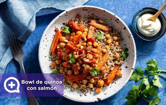 recetas fáciles, recetas, quinoa, garbanzos, ensalada, bowl, mediquo, nutrición