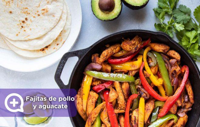 Fajitas de pollo y aguacate, receta, recetas fáciles, nutrición, salud, mediquo.