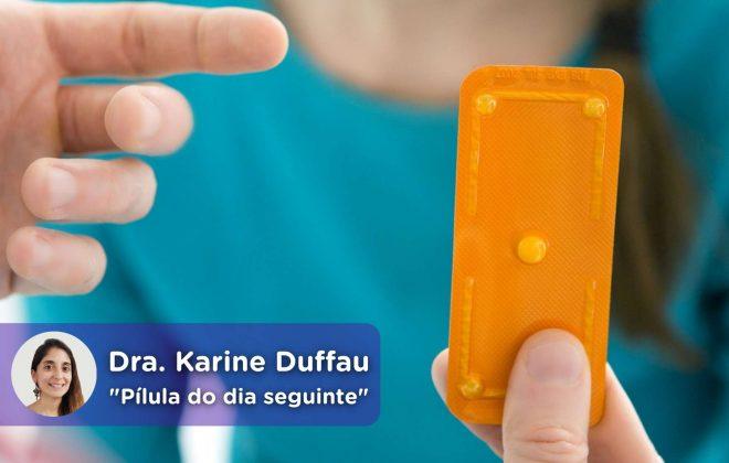 A pílula do dia seguinte, anticoncepcional. Dra. Karine Duffau. mediQuo, seu amigo médico. Bate-papo médico.