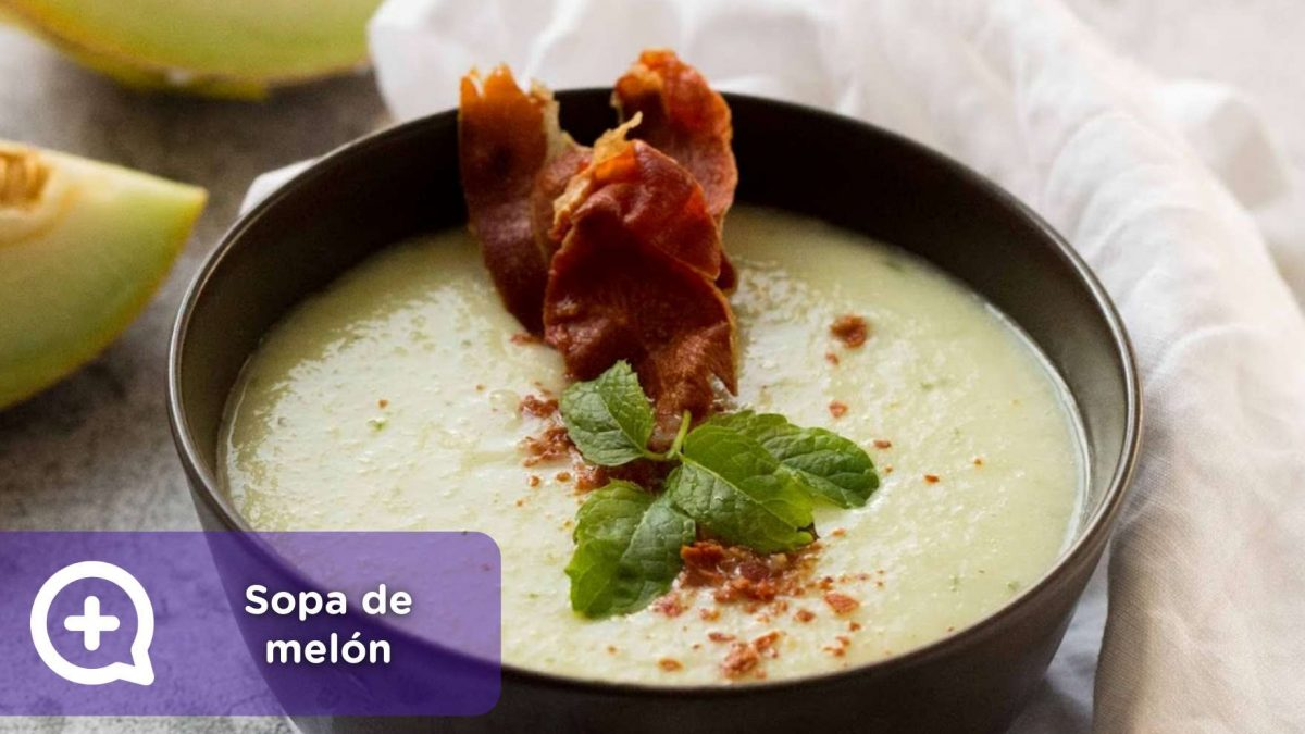sopa fría de melón con virutas de jamón. MediQuo, Recetas, recetas fáciles. Salud, nutrición.