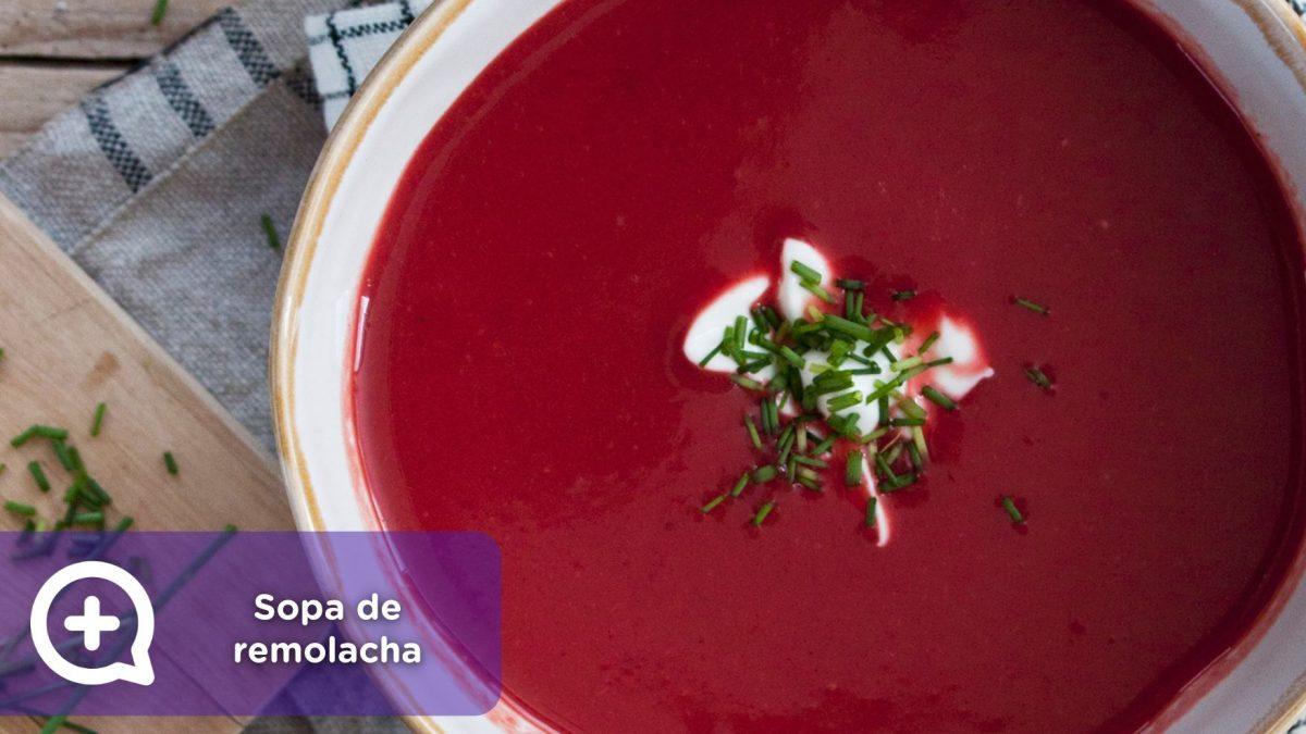 sopa de remolacha, mediquo, nutrición, salud, recetas fáciles