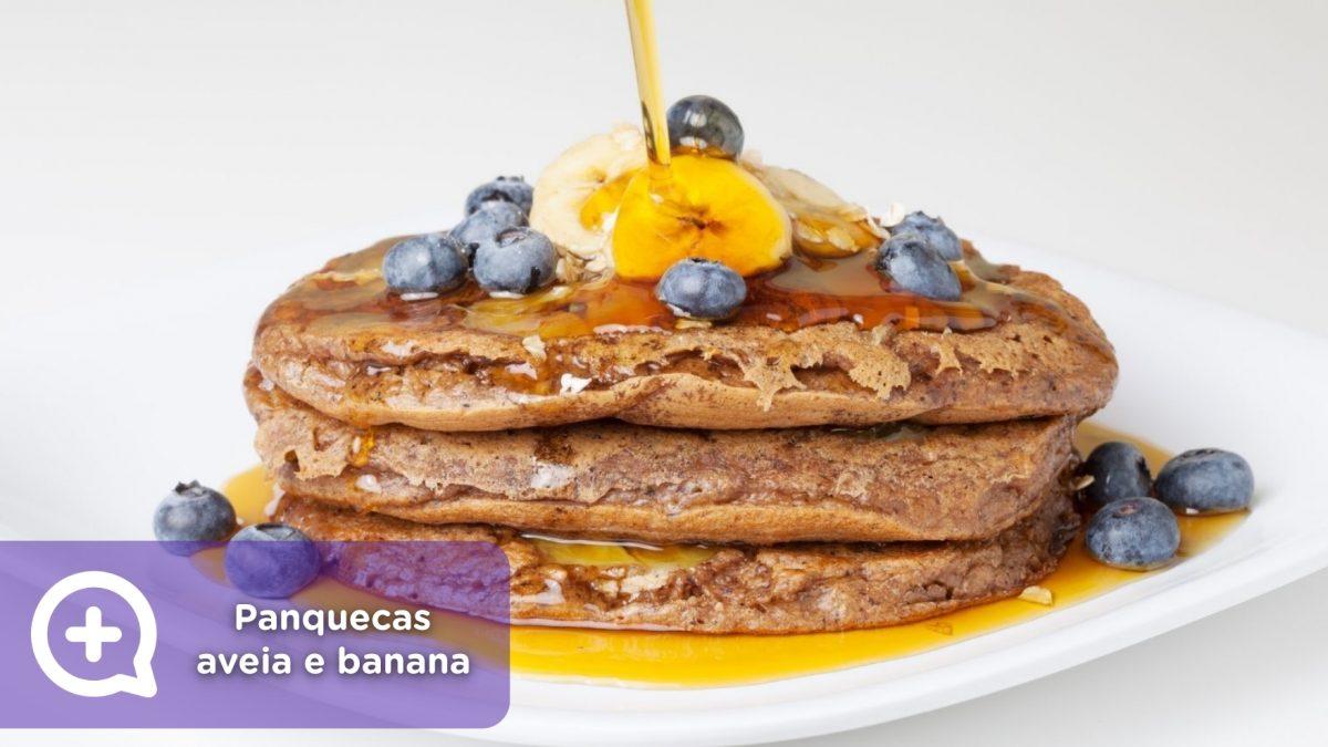 Panquecas-mediquo banana, aveia, receitas, saúde,