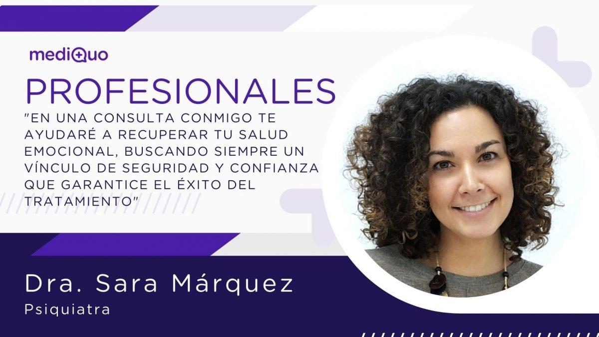 Sara Márquez psiquiatra mediQuo, chat médico, consulta online, psiquiatra online, psiquiatra urgente