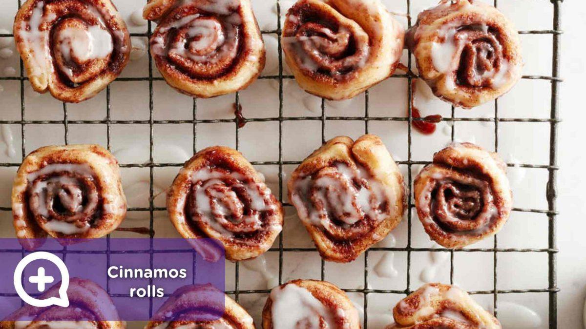 receta cinnamons rolls, rollitos de canela, mediquo
