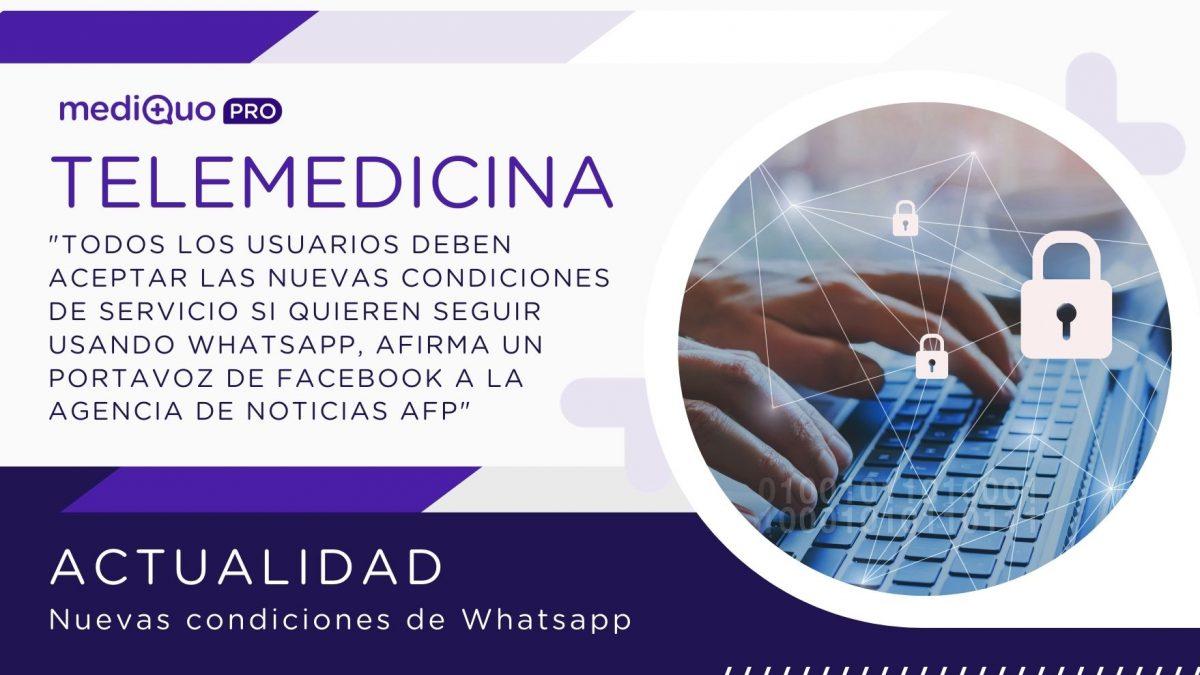 Whatsapp Facebook MediQuo PRO telemedicina. Noticia, Actualidad.