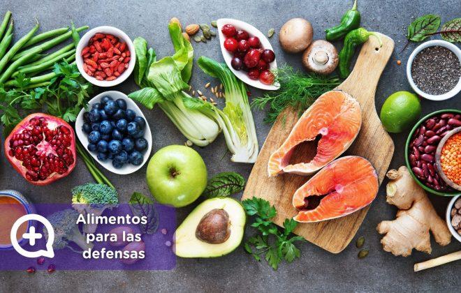 Alimentos para las defensas. MediQuo. Telemedicina, Nutrición, salud, vitaminas, consulta médica.