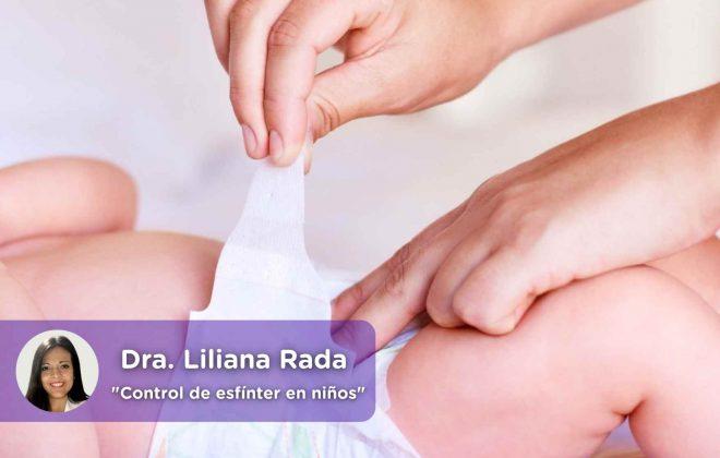 Control de esfínter en niños, Liliana Rada, Pediatría, pañal, niños, bebé, pipí, caca