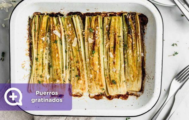 Receta_puerros_mediQuo Salud, nutrición, parmesano, perejil, nata, recetas, recetas fáciles