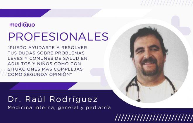 Raúl Rodríguez Galindo profesional mediQuo. Chat médico, medicina general, pediatra