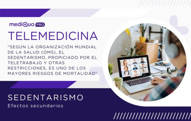 Sedentarismo, Teletrabajo MediQuo, Salud, riesgo de mortalidad, OMS