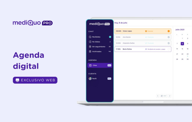 Agenda digital mediQuo PRO
